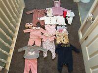 Baby girls clothes bundle first size, newborn