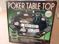 Table Top Poker Game for 6 - brand new