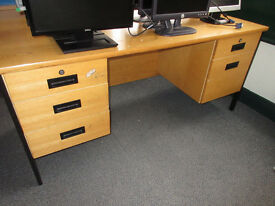 OFFICE DESKS (2 SOLD) WITH OR WITHOUT RETURNS - TAKE YOUR PICK £10 EACH