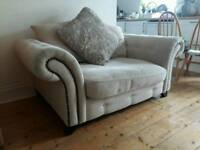 DFS cuddler sofa and 3 seater.