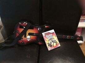 Nintendo Wii Guitar Hero game and guitar. (controller not included)
