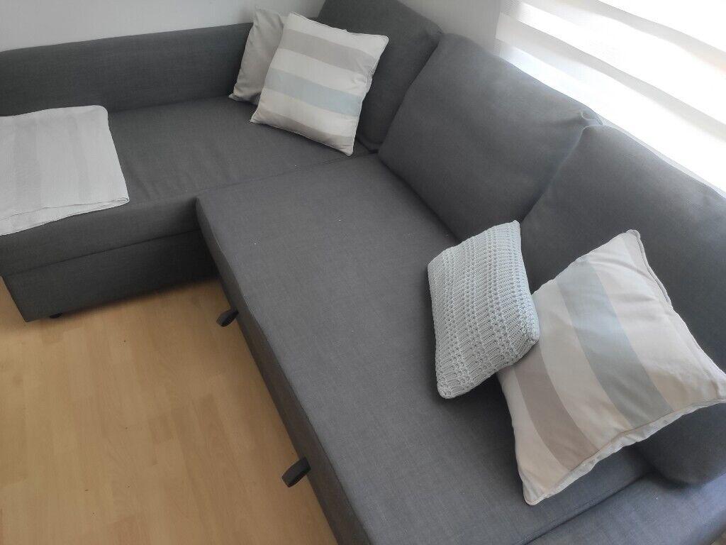 Pleasing Corner Sofa Bed With Storage Dark Grey Ikea Friheten In Barking London Gumtree Machost Co Dining Chair Design Ideas Machostcouk