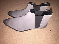 GREY CHELSEA BOOTS SIZE 11 (never been worn)