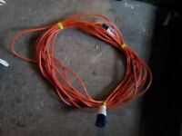 20m Caravan Camping Hook Up Cable 16A Site Extension Lead Orange