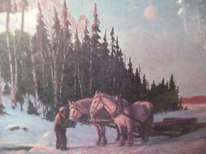 """Frank Panabaker """"Stopping By Woods"""" Vintage Print Stratford Kitchener Area image 4"""
