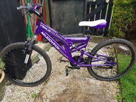 "Girls 18"" Muddyfox dual coil mountain bike"
