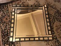 Mirror with a beautiful black frame size 60x60cm its very clear mirror £15