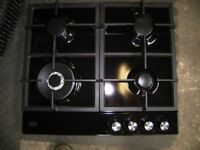 Gas hob black as new,fitted for 2 weeks only