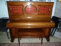 Piano Sohmers antique with bench for quick sale.