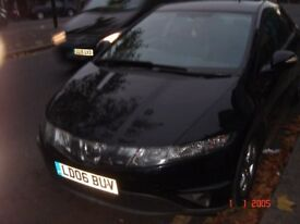 HONDA CIVIC - 2006 - HATCH BACK - BLACK