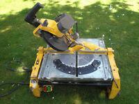 Dewalt DW743 Flip Over Chop mitre table Saw 220 240v dw742 elu