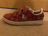 Genuine Special Edition Red Adidas Adicolour Betty Boop trainers