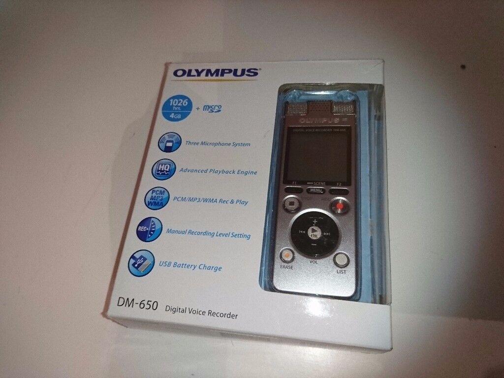 OLYMPUS DM-650 Digital voice recorder - silver