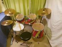8 Piece Drum Kit With Sabian Cymbals