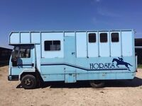 7.5 tonne ford Iveco Cargo F reg Horsebox