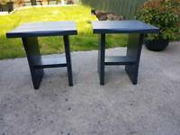 Garden Heavy Side Tables x2 Newly painted