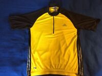 Adidas Cycling top (L) with pockets on back