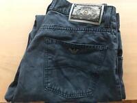 Armani Jeans 32 waist black