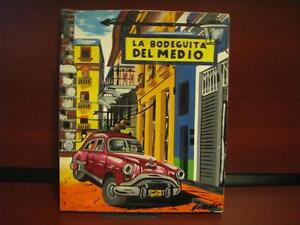 original painting canvas of famous Cuban restaurant plus 1 Watch