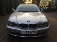BMW 318CI, MANUAL 2004 FULL SERVICE HISTORY FROM MAIN DEALER,1 PREVIOUS OWNER, 2KEYS, MINT CONDITION