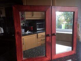 Twin Mirror door bathroom cabinet, new.
