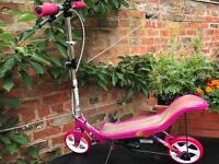 Girls large pink space scooter