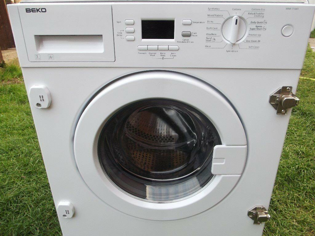 BEKO 7KG INTEGRATED WASHING MACHINE IN GOOD CLEAN WORKING ORDER RRP £329 OFFER PRICE ENDS ON 12/10