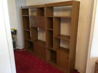 Useful, well made, free-standing, wooden wall units