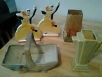 Art deco pottery job lot