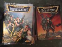 WARHAMMER 40000 40k Imperial Guards and Assassins Codex vintage sourcebooks