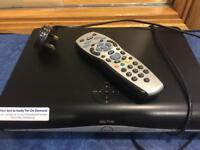 Sky+HD box with remote.