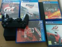 PS4 slim 1tb with racing games
