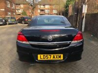 VAUXHALL ASTRA DESIGN 1.8,FULLY AUTOMATIC, CONVERTIBLE, YEAR2008,VERY LOW MILEAGE,F.S.H, LADY OWNER