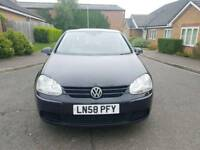 Volkswagen Golf 1.9 TDI Match Hatchback 5dr Diesel Manual 2008 BLACK full service history.