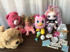 Poopsie Unicorn Slime Surprise Pink Care Bears Love Plush Owl Eggs Drops Dolls Toys Girls Bundle