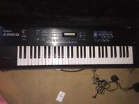 Roland Juno D keyboard synth synthesiser synthesizer