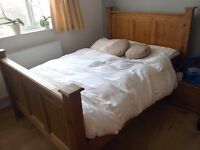 Beautiful solid pine double bed