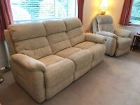 Sofa and matching recliner chair