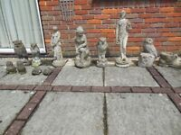 Offers Invited for a Job Lot (12) of Garden Ornaments and a planter