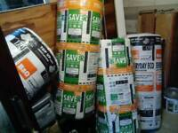 4 rolls of insulation 200mm and 170mm