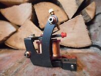 POWER LINER HAND BUILT TATTOO MACHINE MOB IRONS FRAME hand wound coils