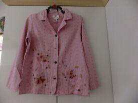 Pink cotton jacket by Quacker size M