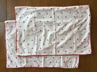 Reversible red and white Sainsbury's bed linen set - hardly used