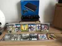 PlayStation 3 slimline 500gb lots of games 2 wireless controllers.
