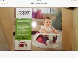 Mamas and papas baby seat bumba with tray and box great condition