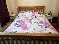 Pine Double bed base