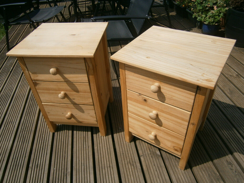 Pair Of Solid Pine Bedside Table Drawers Argos