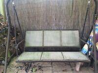 Garden swing needs a good clean