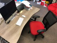 6 x Pristine Desks and Executive Chairs with one set of drawers - RRP over £2000 + VAT