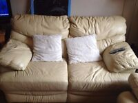 Leather sofa (2 seater)